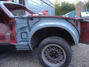 TR7-wheelarch-painted