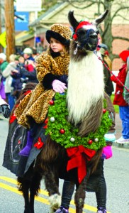 The stylishly dressed rider is part of the Loco Llamas group.