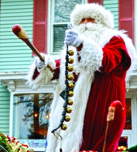 A Christmas parade wouldn't be complete without Santa Claus. Photo by: Maureen Golden