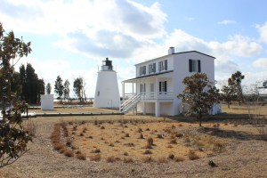 Piney Point Lighthouse and the Keepers quarters