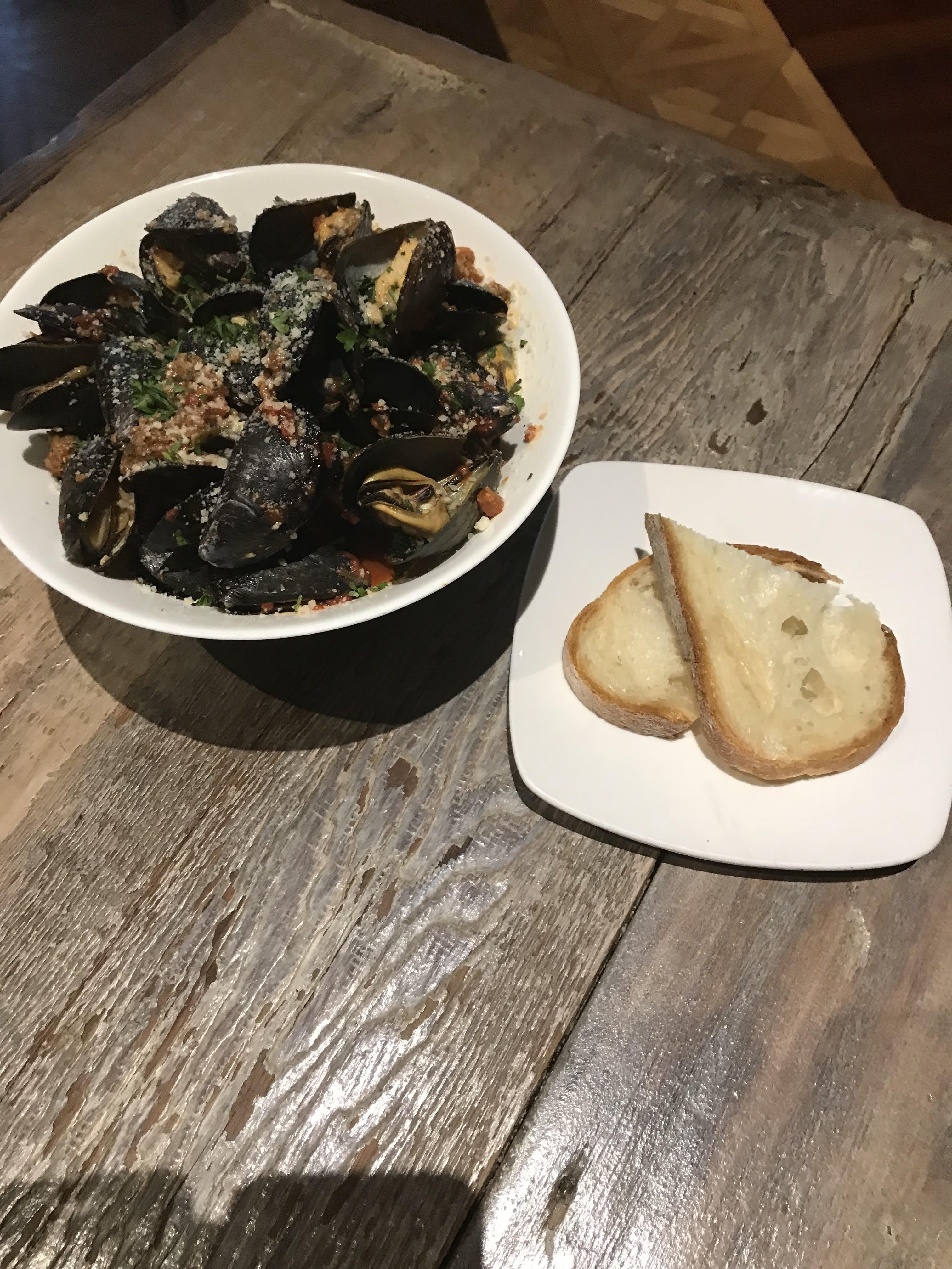 Brick Wood Fired Bistro Spicy Mussels