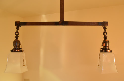 Craftsman Style Chandelier, main base