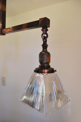 Craftsman style chandelier, 26 inch