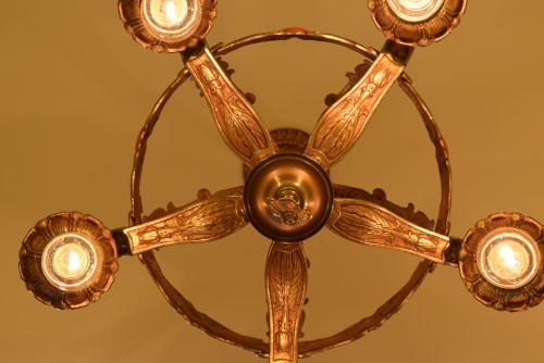 Crown, lit, underside view