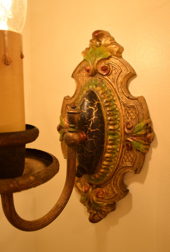 Palmetto Sconce, 2, back plate view