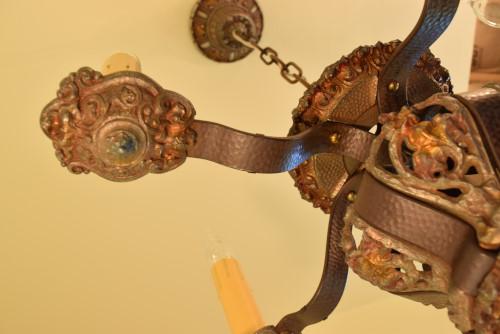 Riddle chandelier, under-socket detail