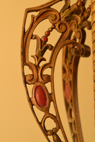 Fuchsia chandelier, stem panel detail