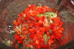 red pepper guacamole