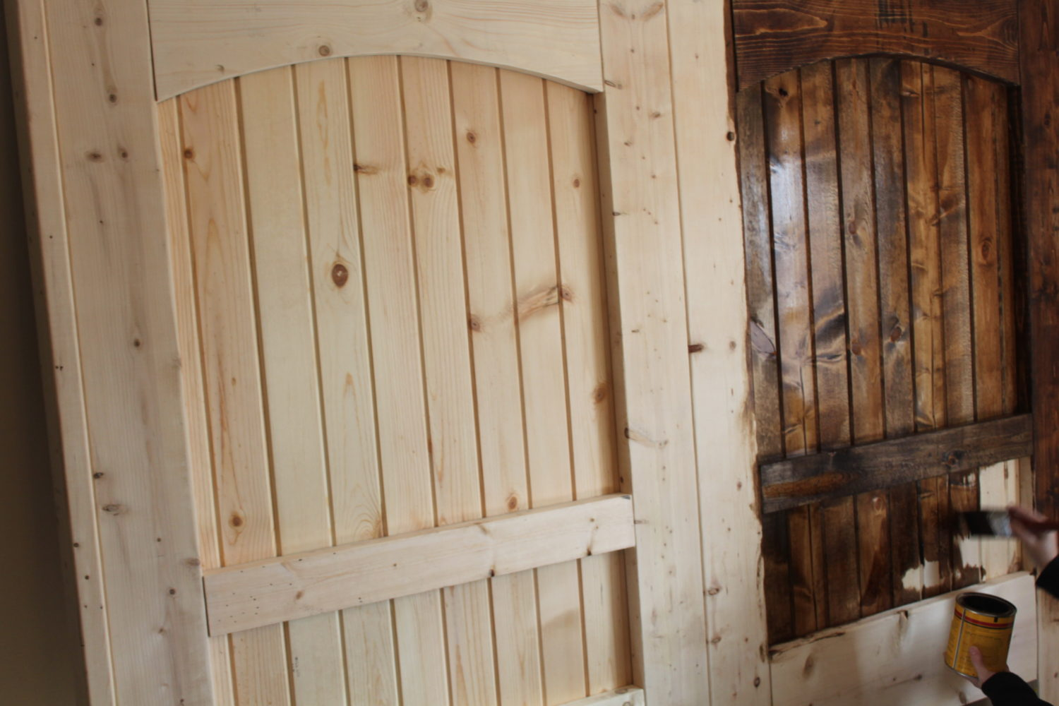 How To Build A Rustic Barn Door Headboard Old World Garden Farms