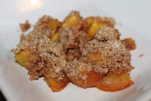 sugar free peach crisp