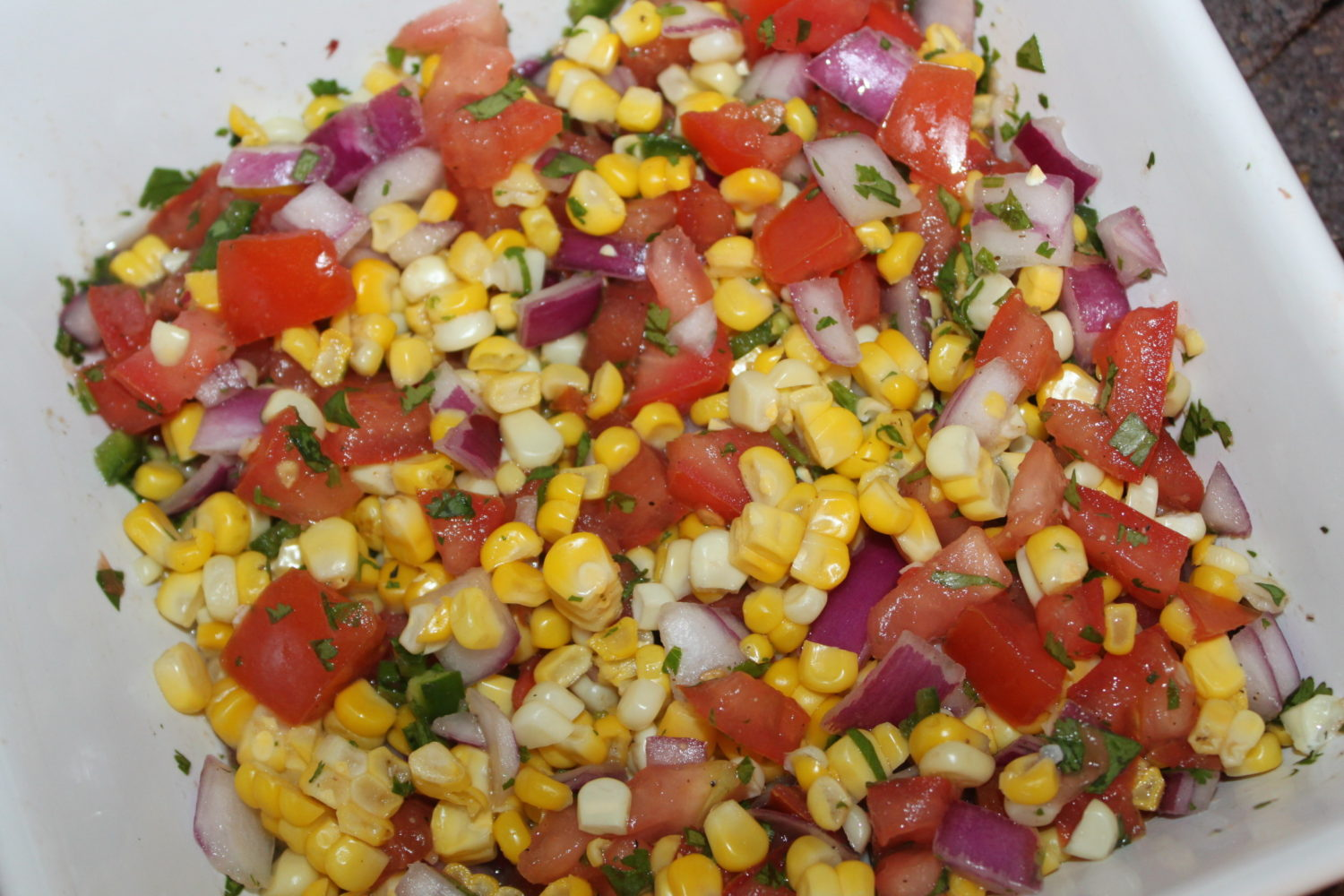Who says salsa recipes are all tomato based? This roasted corn as a ...