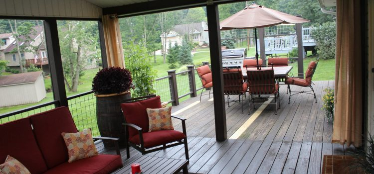 Creating An Outdoor Living Room From A Screened-In Porch