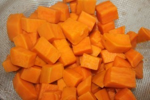 Sweet potatoes are easy to peel and are fork tender in about 10-15 minutes when boiled.