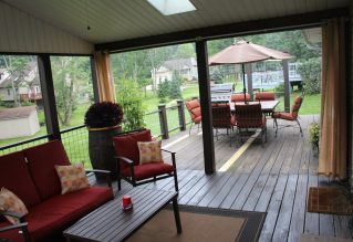 We hope completing projects like our back porch remdoel will help our house sell quickly when the time comes