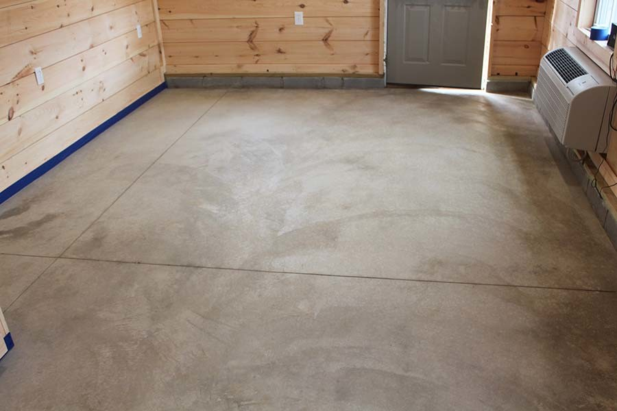 Acid staining our concrete floors an expensive look at for Cleaning concrete steps