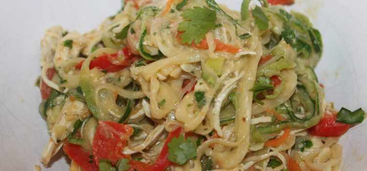 Thai Chicken and Zucchini Noodles Recipe, Healthy and Delicious!
