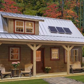 Off-Grid Living Simplicity – A 608 Sq. Foot Cabin That Rocks!