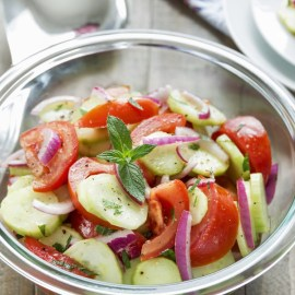 The BEST Cucumber, Onion and Tomato Salad – So Refreshing!