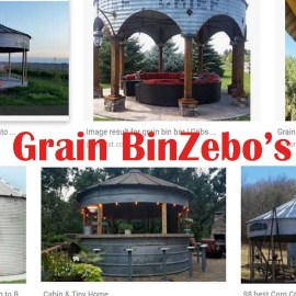 The Grain BinZebo – One Incredibly Cool Recycled Outdoor Living Space!