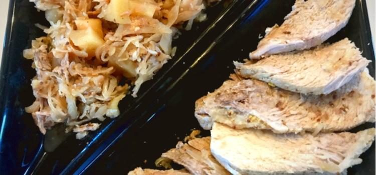 Slow Cooker Pork Roast, Sauerkraut and Apples Recipe Good Luck Meal