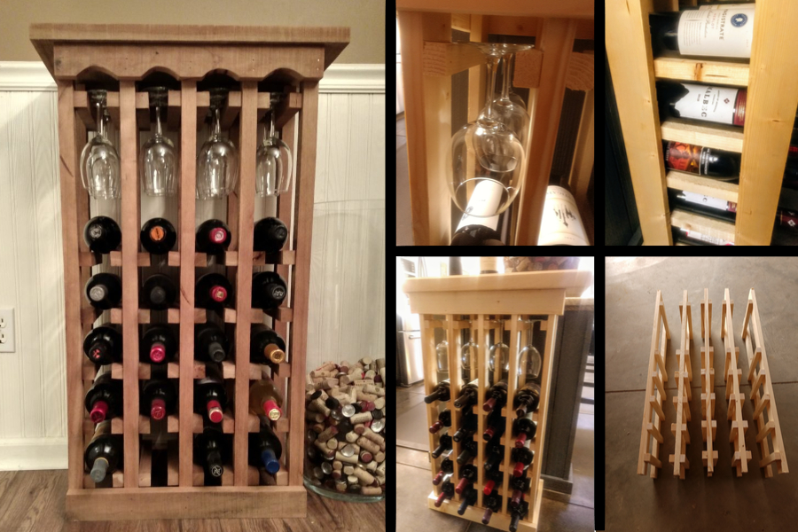 how to make a diy wine rack with ease