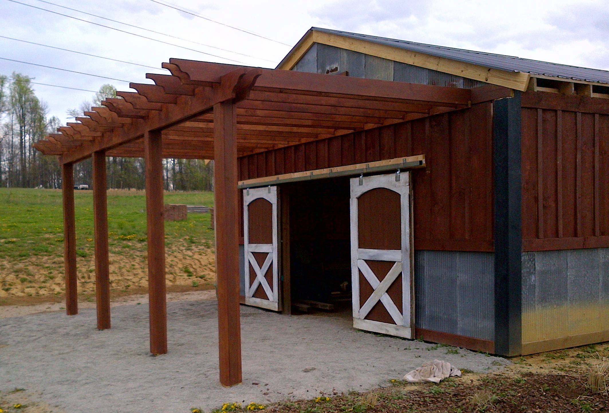 The Barn Pergola And The 1 Year Anniversary Of The Blog - Old World Garden Farms
