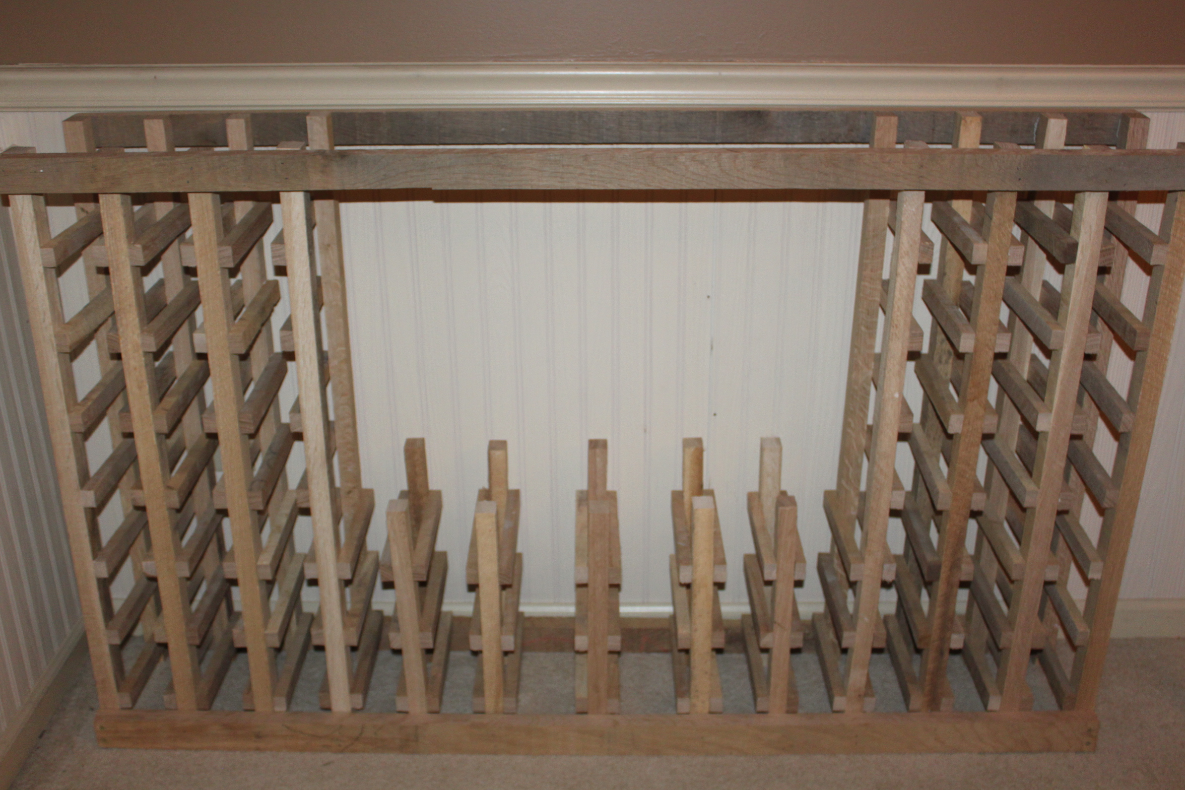 Building a classic wine rack from pallets and reclaimed Wine rack designs wood