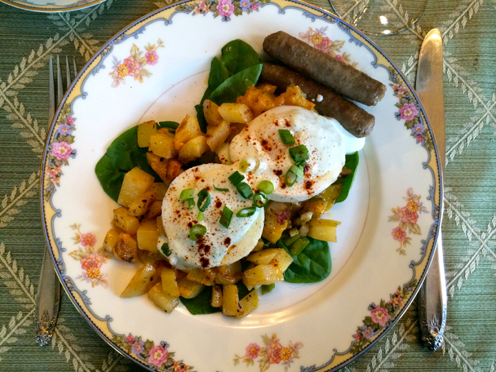 bed and breakfast eggs twice baked hash truffle