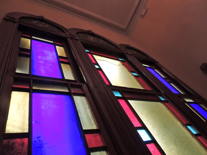 original stained glass window coppersmith inn