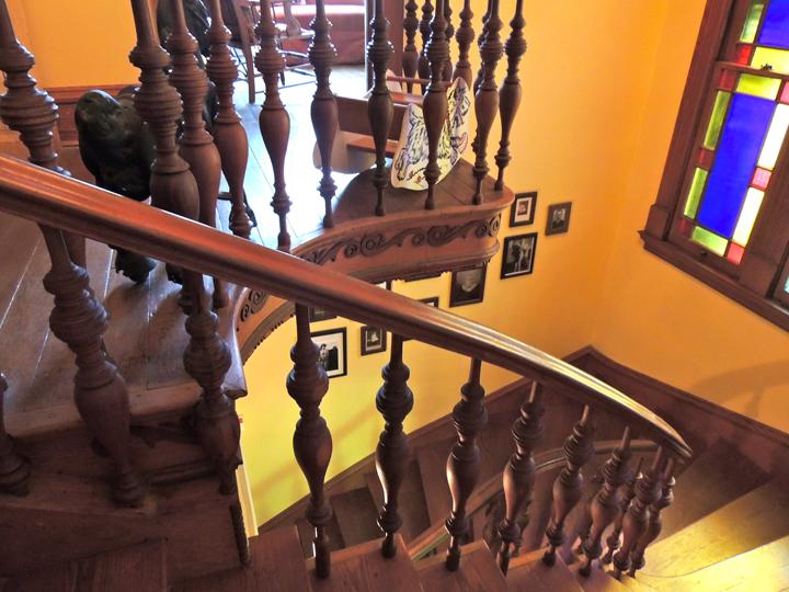 Banister stairwell coppersmith inn