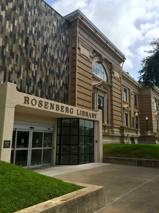 Rosenberg Library exterior - What to do, see, eat and explore while in Galveston, TX   oldworldnew.us
