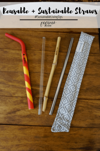 reusable straws - sustainable living tips
