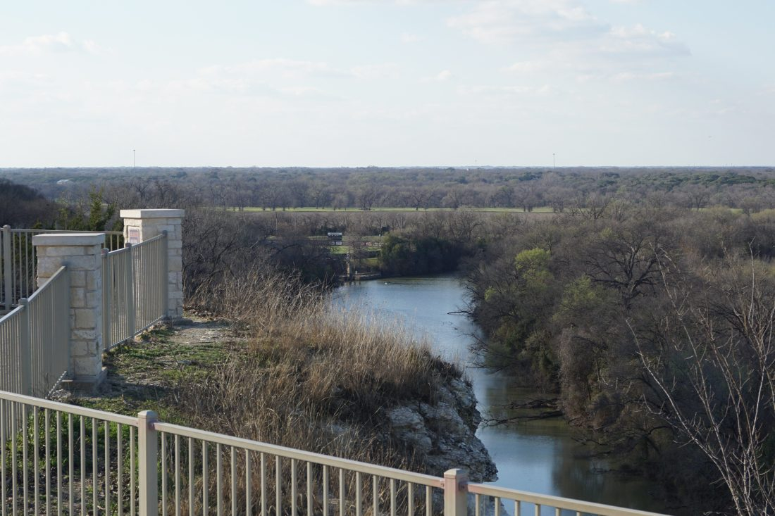 Lover's Leap outlook at Cameron Park in Waco, TX - Addie, Old World New