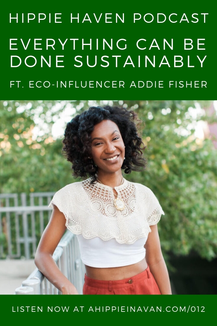 Eco-friendly Podcast hippie Haven interview of Addie of Old World New sustainable living blog