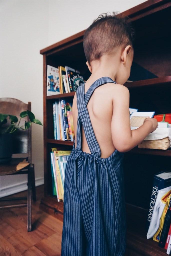eco-friendly childrens clothing - beya made - kids bookshelf