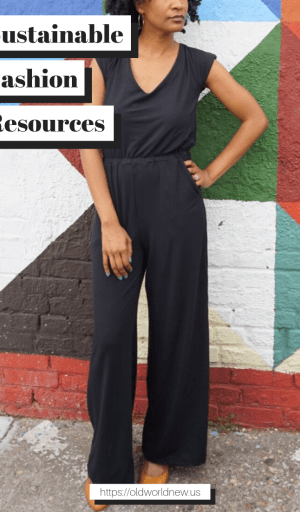 Sustainable Fashion Resources via Old World New