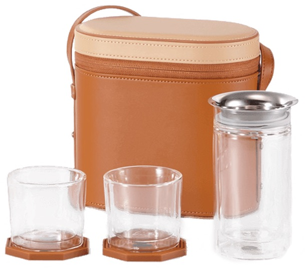 Compass Travel Tea Set with canister and infuser