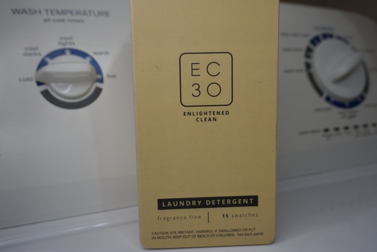 use cold water to wash clothes and conserve energy with EC30 laundry swatches