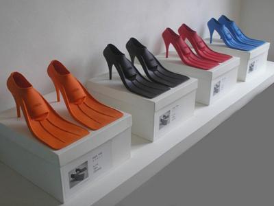 Schwimmflossen-Schuhe