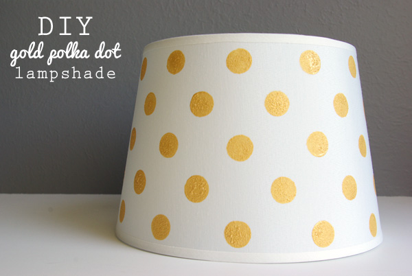 Diy gold polka dot lamp shade oleander palm diy gold polka dot lamp shade aloadofball