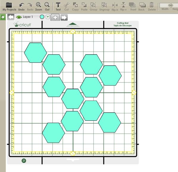 DIY Instagram Hexagon Frame Oleander Palm - Instagram cut out template