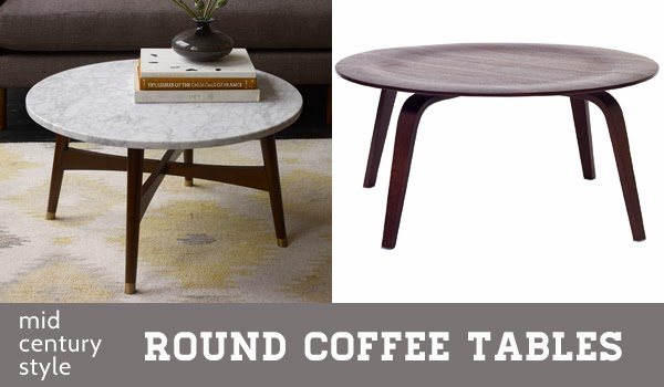 Midcentury Style Round Coffee Tables Oleander Palm