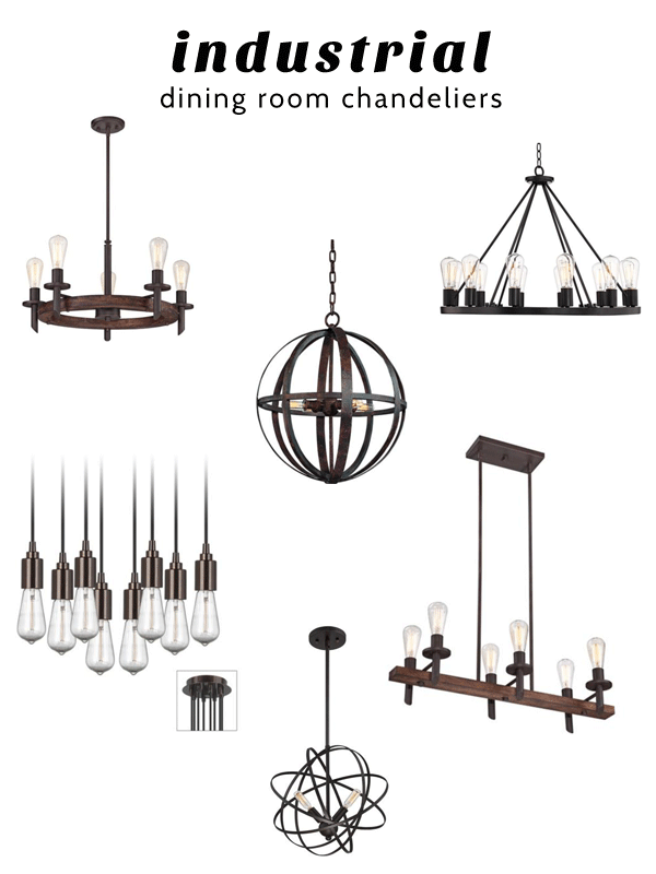 Iu0027ve picked a few of my favorites and would love your input. Which one do you think would be best in my space? I love anything with edison bulbs ...  sc 1 st  Oleander + Palm & Industrial Dining Room Chandeliers - Oleander + Palm azcodes.com