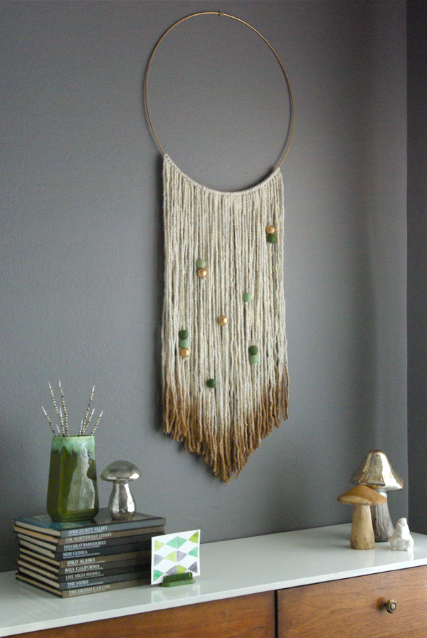 Diy Gold Dipped Yarn Hanging Oleander Palm