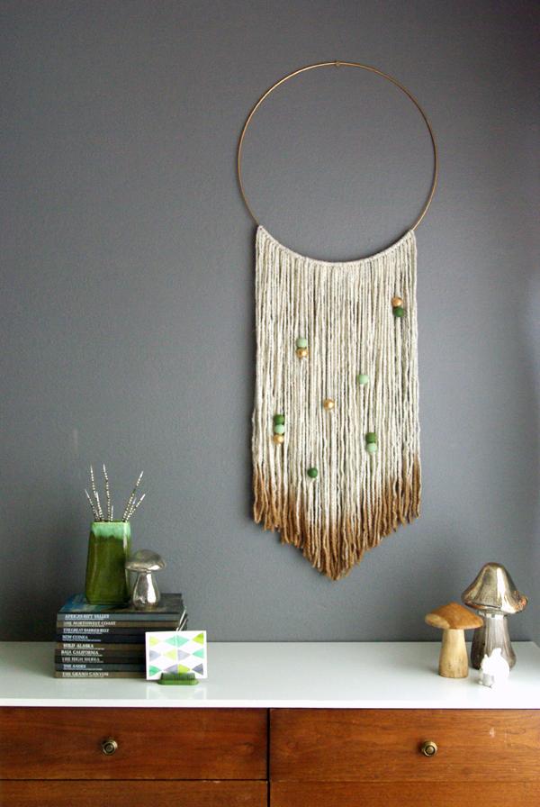 Diy Gold Dipped Yarn Hanging Oleander Palm