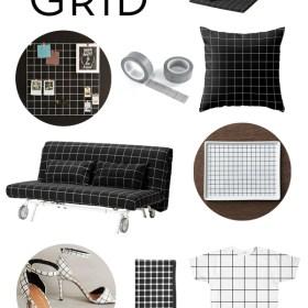Black + White Grid Pattern