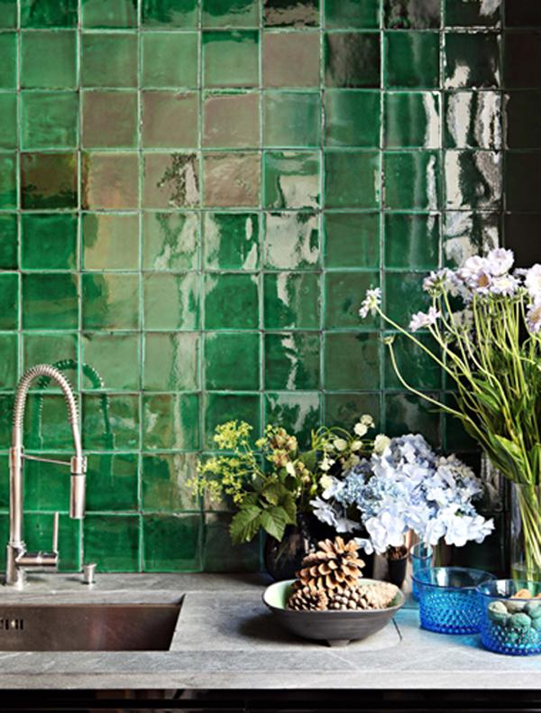 Green Tile - Oleander + Palm