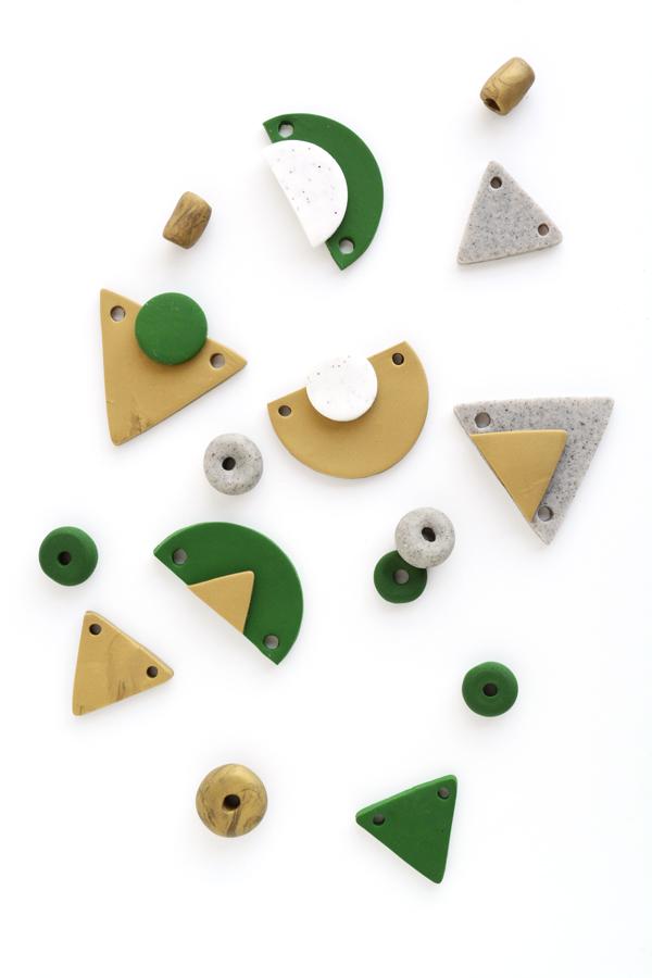 geometric necklace pendants
