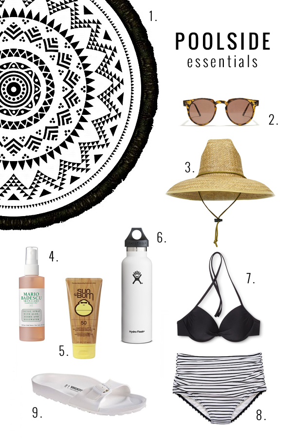 poolside essentials