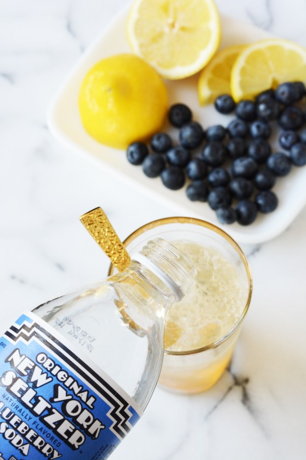Sparkling Blueberry Bourbon Vanilla Lemonade
